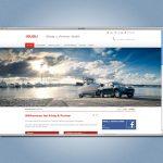 Screenshot ISUZU-Website für Autohaus König & Partner GmbH