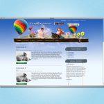 Screenshot Website für den Kindergarten Sandhasennest in Benshausen