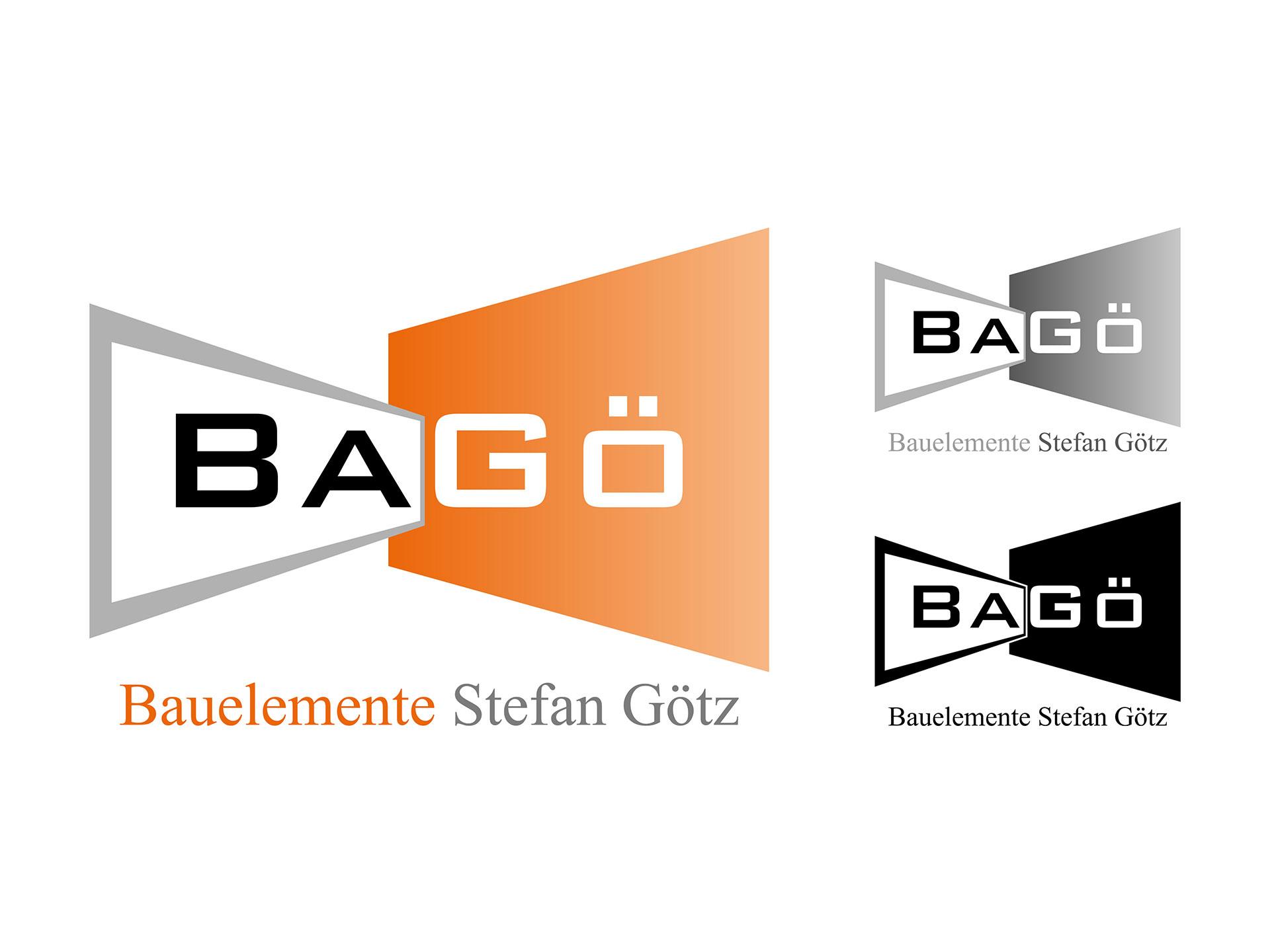 Logo BaGö - farbig, grau und schwarz-weiß