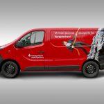 Fahrzeugbeklebung Opel Vivaro der Kreissparkasse Hildburghausen - Fahrerseite