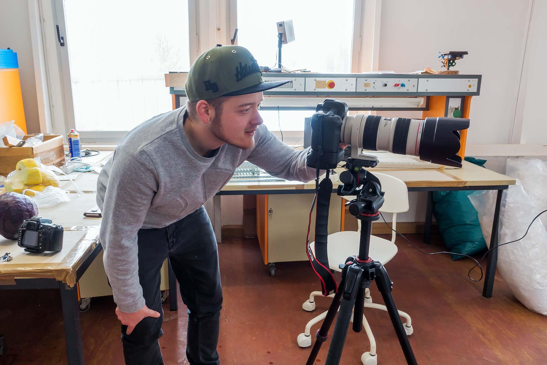 Videoaufnahmen - Jonas Larbig hinter der Kamera