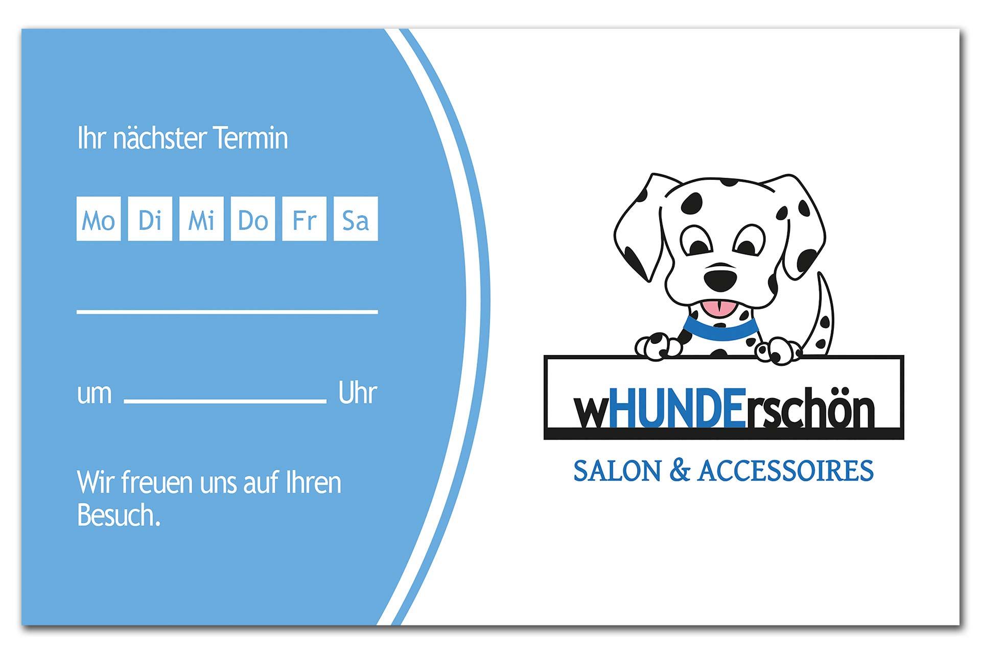 Terminkarte Hundesalon wHUNDerschön, Seite 1
