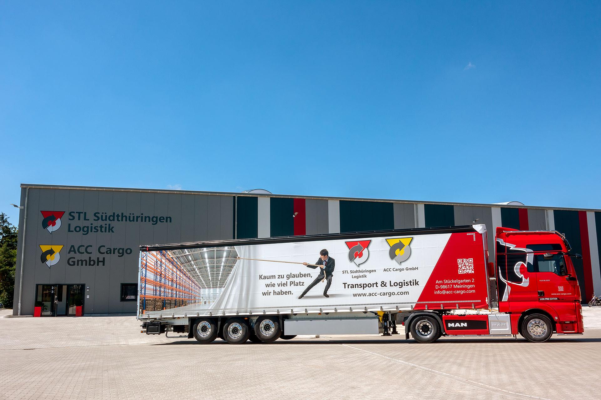 Seitenansicht Lkw-Trailer ACC Cargo GmbH