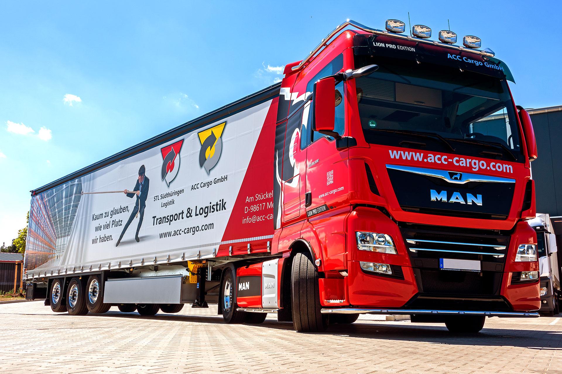 ACC Cargo GmbH - Neue Zugmaschine und neuer Lkw-Trailer
